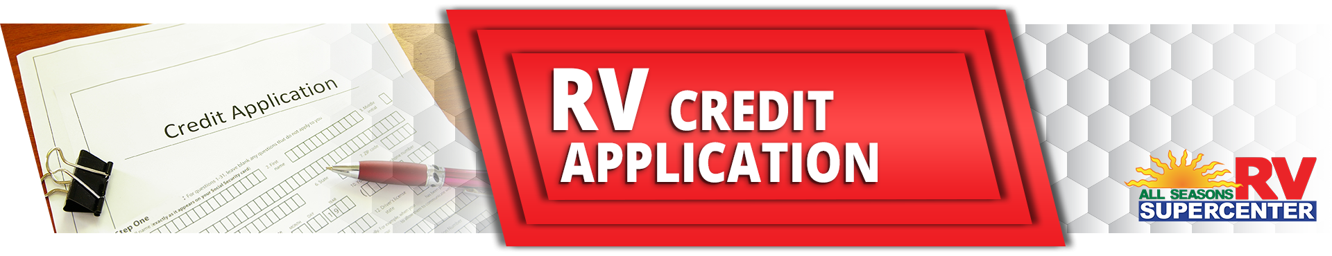 RV Credit Application on All Seasons RV
