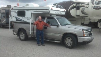 Homer Sterner at All Seasons RV with their Bronco B-800