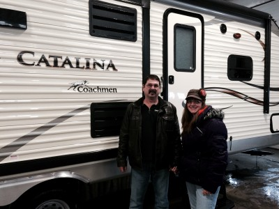 Ken Maupin of Merkel, TX with their Catalina 223FB