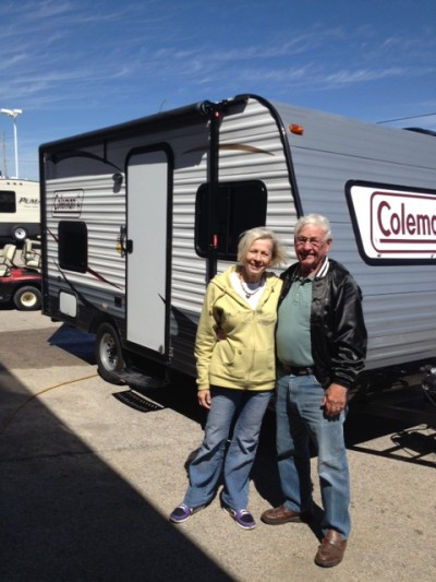 Zoe Chiaramonte at All Seasons RV with their Coleman CTS15BH