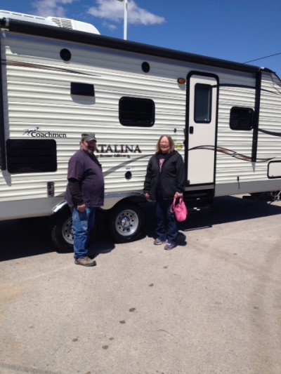 Bonnie Ray at All Seasons RV with their Catalina Banner Edition 243RBS