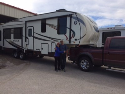 Charlotte Justice at All Seasons RV with their Eagle 291RSTS