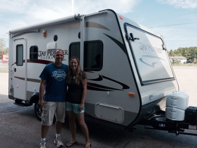 Ken at All Seasons RV with their Jay Feather Ultra Lite X17Z