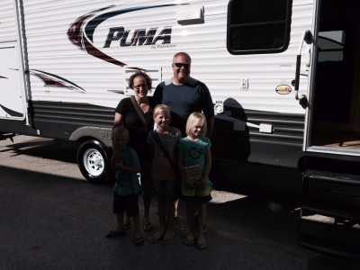 Chip Mccue at All Seasons RV with their Puma 30FBSS