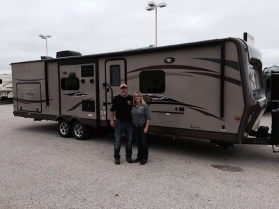 Brian at All Seasons RV with their North Point 301RETS