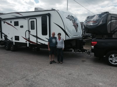 Diana Hoffmann at All Seasons RV with their Stryker 2512