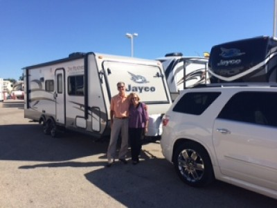 Ovill Humes at All Seasons RV with their Jay Feather Ultra Lite X23F
