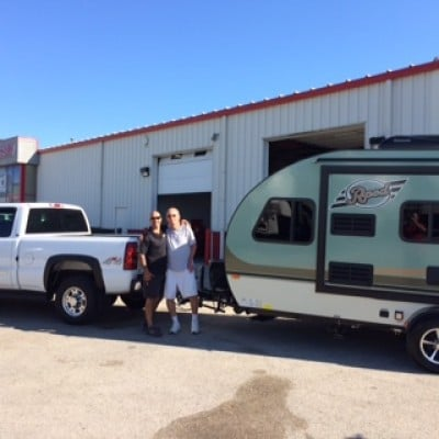 Bill at All Seasons RV with their R-Pod 179