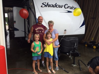 Michael Couturier at All Seasons RV with their Shadow Cruiser 260BHS