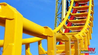 Close Up Of Rollercoaster At Michigan Adventure's