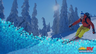 Man Skiing Down Crystal Mountain Feature