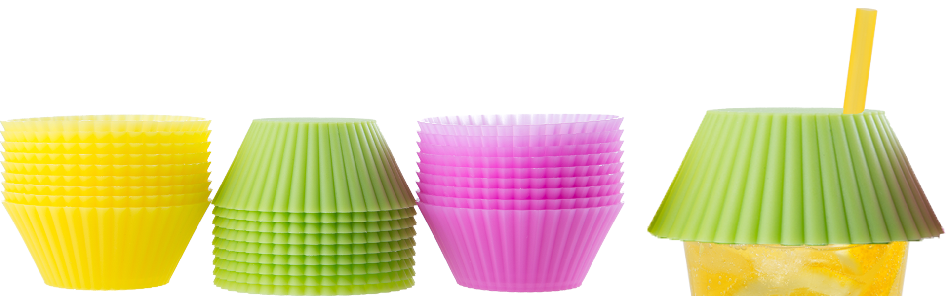 Cupcake liners for drink covers