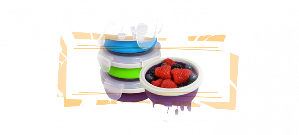 collapsible bowls for RV kitchen space saving