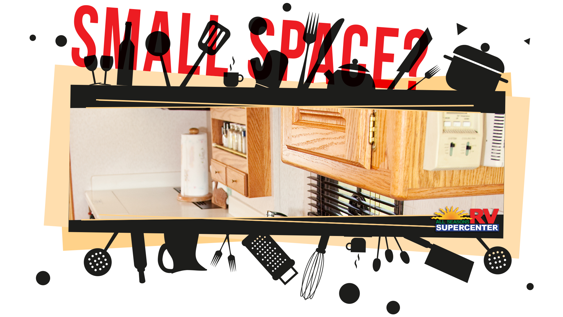 small space? RV kitchen with appliances