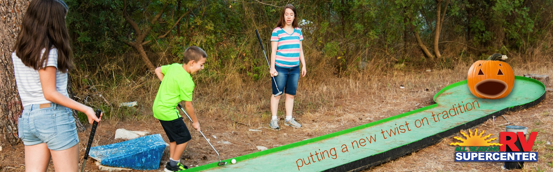 Uncategorized Pumpkin Golf diy putt pumpkin golf all seasons rv blog your little trick or treaters amused this halloween season if so then weve got just the project for you game o