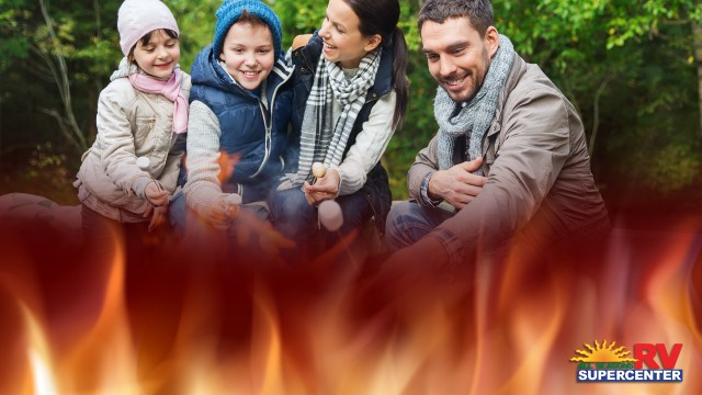 Family Around Bonfire Keeping Your Little Ones Safe Around A Campfire 1