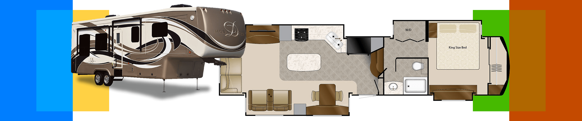 Camp all year round in the four-season Mobile Suites RV