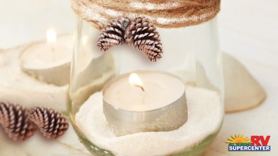 Diy Winter Decorated Mason Jar Candles 1