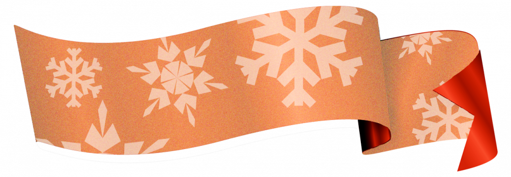 Snowflakes on a ribbon - make your own pattern on wrapping paper