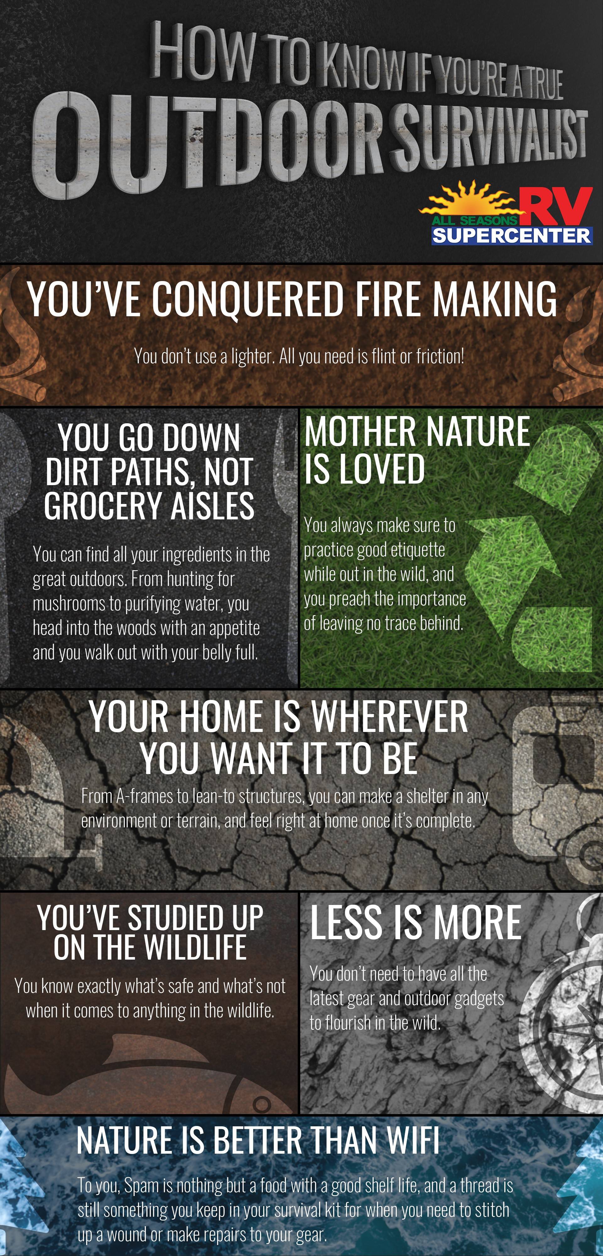 outdoor survivalist infographic