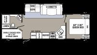 2018 Puma 28FQDB Floor Plan