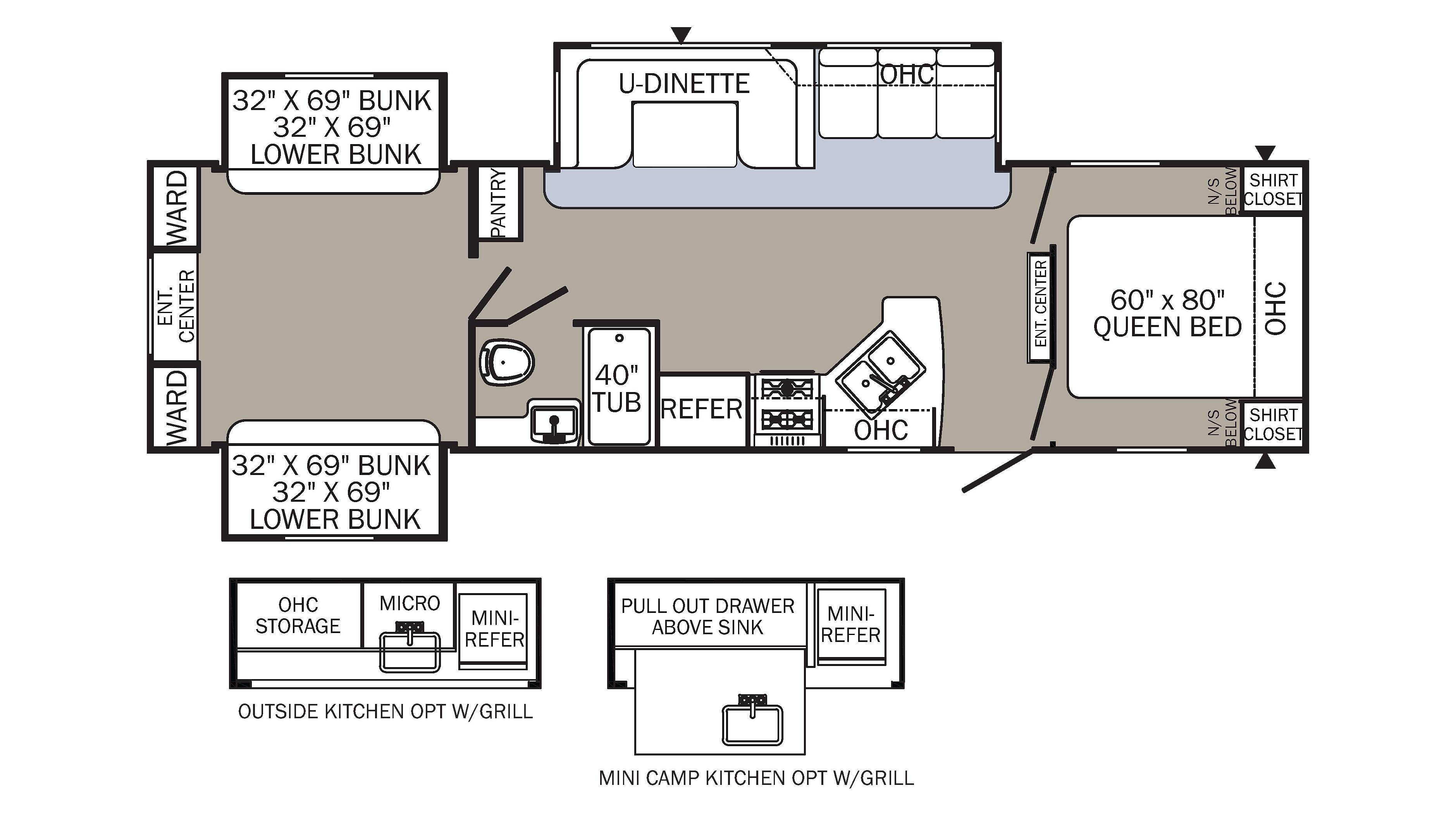 100 puma 5th wheel floor plans 2018 palomino puma for Floor plans 5th wheel campers
