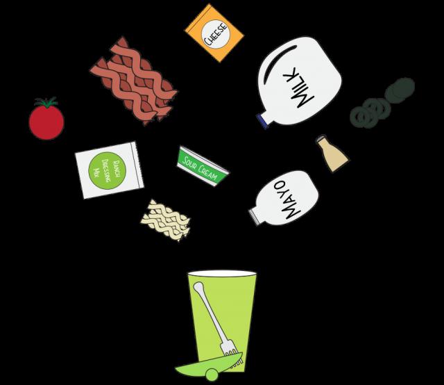Portable pasta salad