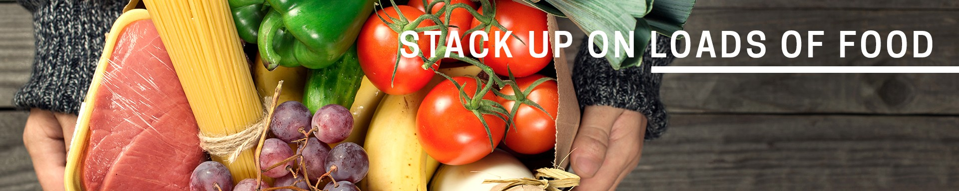 stack up on loads of food