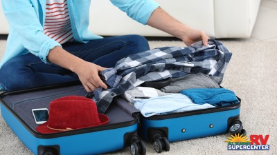Packing suitcase