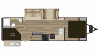 2019 Fun Finder Xtreme Lite 27BH Floor Plan