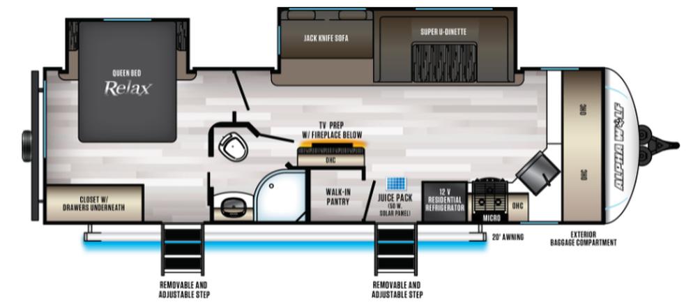 Alpha Wolf 28FK-L Floor Plan - 2022