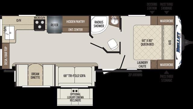 2020 Bullet 258RKS Floor Plan
