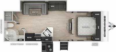 Cherokee 234DC Floor Plan - 2021
