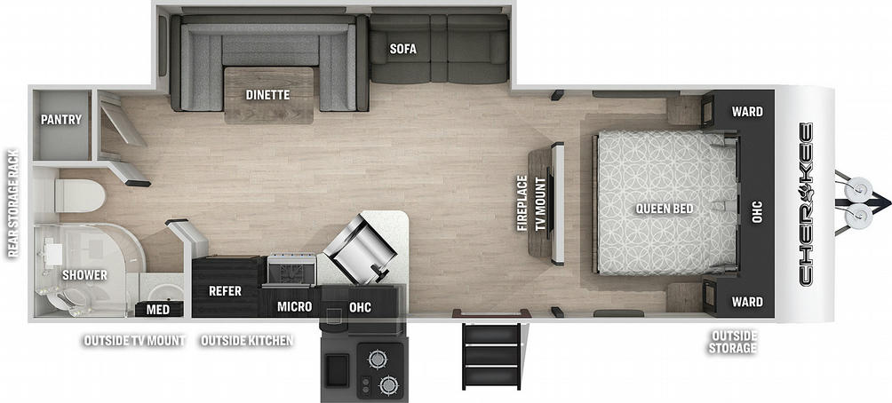 Cherokee 234DCBL Black Label Floor Plan - 2021