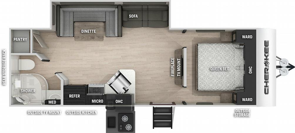 Cherokee 234DCBL Black Label Floor Plan - 2021