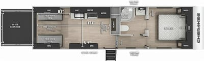 Cherokee 255RR Floor Plan - 2021