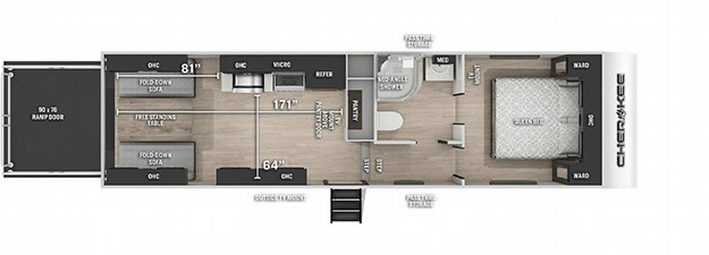 Cherokee 255RRBL Black Label Floor Plan - 2021