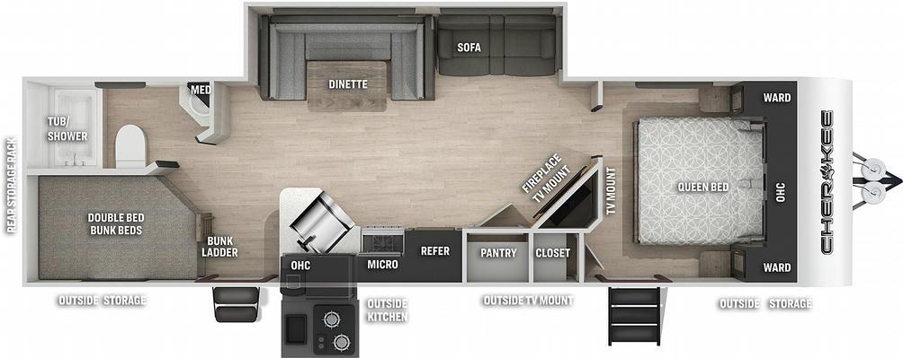 Cherokee 264DBH Floor Plan - 2021