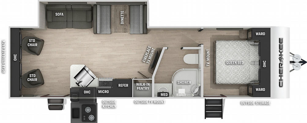 Cherokee 264RL Floor Plan - 2021