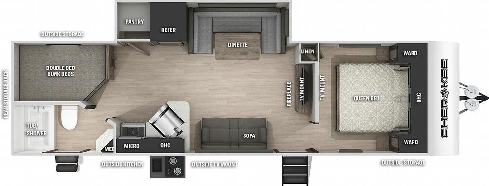 Cherokee 274BRB Floor Plan - 2021