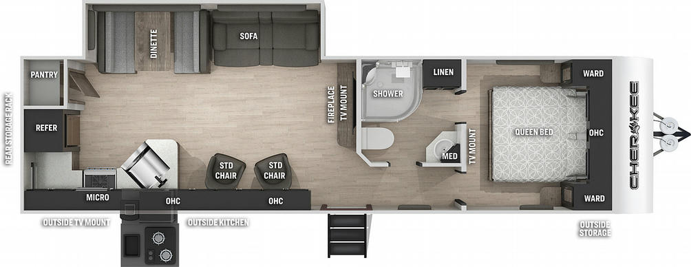Cherokee 274RK Floor Plan - 2021