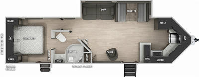 Cherokee 274VFKBL Black Label  Floor Plan - 2021