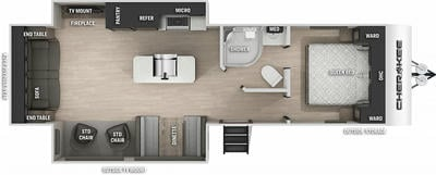Cherokee 274WK Floor Plan - 2021