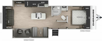 Cherokee 274WKBL Black Label Floor Plan - 2021