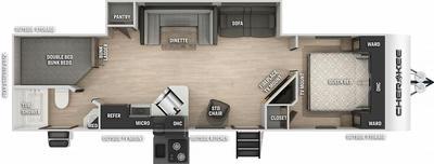 Cherokee 284DBH Floor Plan - 2021