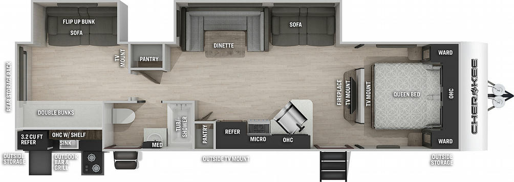 Cherokee 294BHBL Black Label Floor Plan - 2021