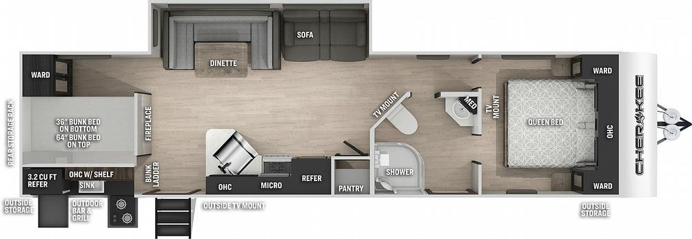 Cherokee 294GEBG Floor Plan - 2021