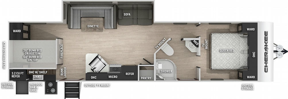 Cherokee 294GEBGBL Black Label Floor Plan - 2021