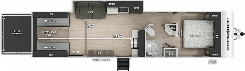 Cherokee 294RR Floor Plan - 2021