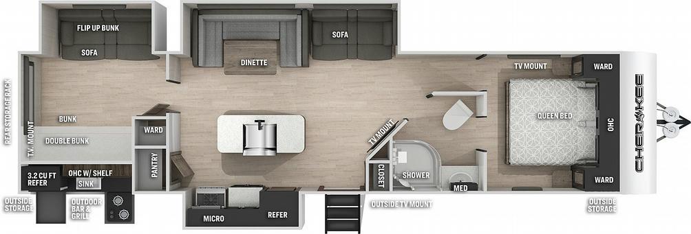 Cherokee 304BH Floor Plan - 2021